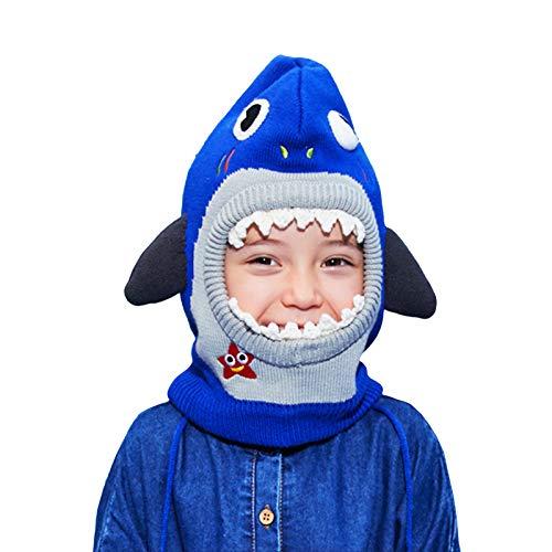 Gogokids Gorro de Punto Cálido Beanie para Niños - Niños Niñas Sombrero de Invierno para Niños Gorra Infantil de Animales con Forro Polar, 0-12 años