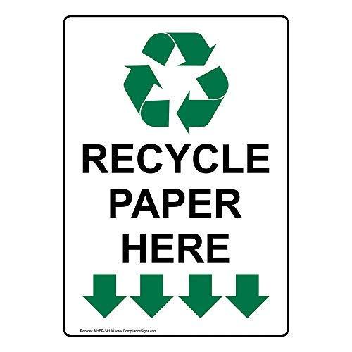 Verticaal Recycle Papier Hier Teken, Grappige Tin Metalen Waarschuwingsborden voor Eigenschap, Aluminium, Poortteken, Hek Teken Buiten, 8