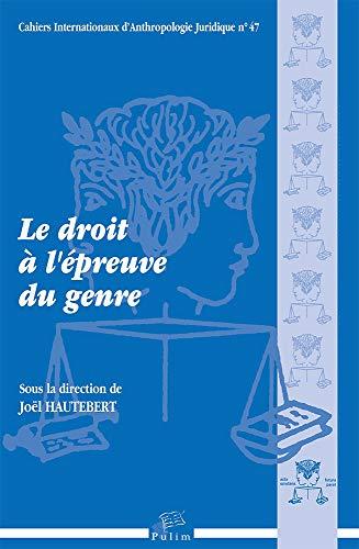 Le Droit A Lepreuve Du Genre