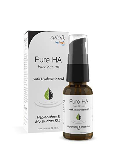 Pure Hyaluronic Acid Serum for Face - Hyalogic Natural HA Face Serum, Non-Greasy, Fragrance-Free Formula - Hyaluronic Acid Serum— Soften & Hydrate Skin   1 Fl. oz.