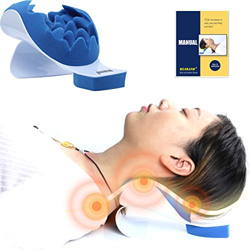 REARAND Neck and Shoulder Relaxer Neck Pain Relief and Neck Support Shoulder Relaxer Massage...