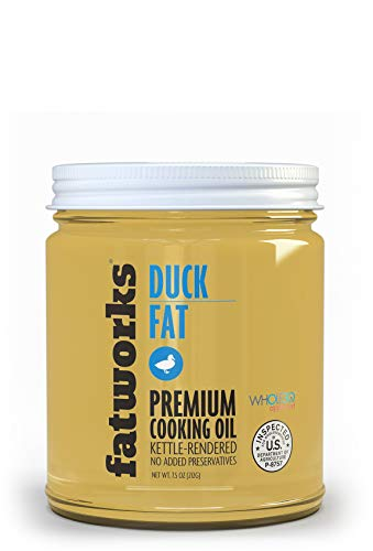 Fatworks, Premium USDA Cage Free Duck Fat, Ultimate Cooking Oil for Gourmet Frying and Baking, WHOLE30 APPROVED, KETO, PALEO, 7.5 oz.