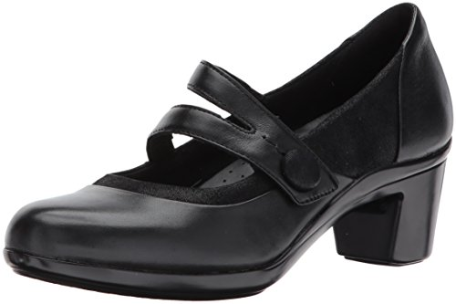 Aravon Womens Lexee Mary Jane Pump Shoes, Black Leather, US 9 N
