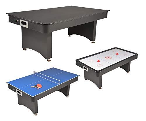 Mesa de juegos 3 en 1 Air Hockey – Ping Pong con bandeja dinatoria
