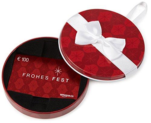 Amazon.de Geschenkkarte in Geschenkbox - 100 EUR (Frohes Fest)