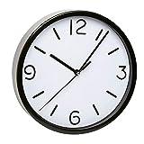 TFA Reloj de Pared electrónico Negro de 200 mm