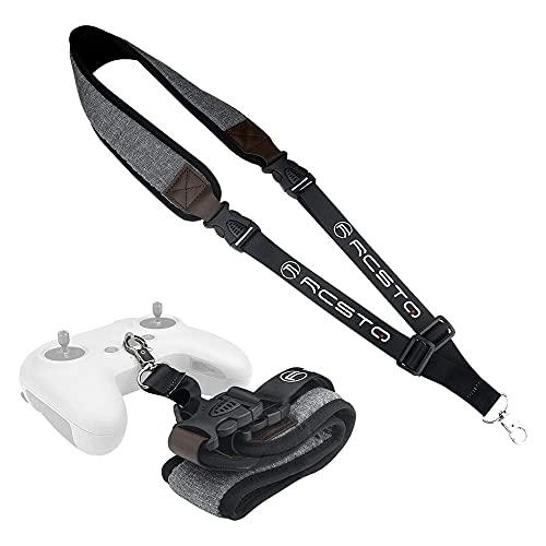 Flycoo2 - Correa de cuello ajustable con hebilla de seguridad para DJI FPV, mando a distancia, 2 accesorios, collar, correa de cuello (gruesa)