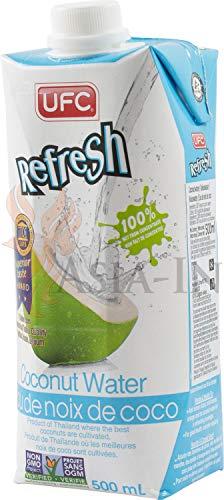 UFC Reines Kokoswasser 100{3024bef4a71d12c498340ec8fac7fc093a4a9ad6b2b55b36f529c953fbbf06ee} Pure Kokosnusswasser Thailand 500 ml 24 Pack