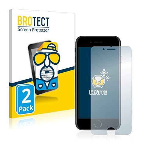 BROTECT 2X Entspiegelungs-Schutzfolie kompatibel mit Apple iPhone SE 2 2020 Bildschirmschutz-Folie Matt, Anti-Reflex, Anti-Fingerprint
