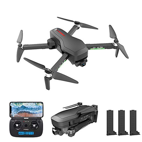 Mobiliarbus RC Drone CSJ X7 PRO GPS with Camera 4K 5G WiFi 2-axis Gimbal Brushless Optical Flow Positioning Track Flight POI Flight Follow Me Gesture Photo Video Portable Backpack 3 Batteries