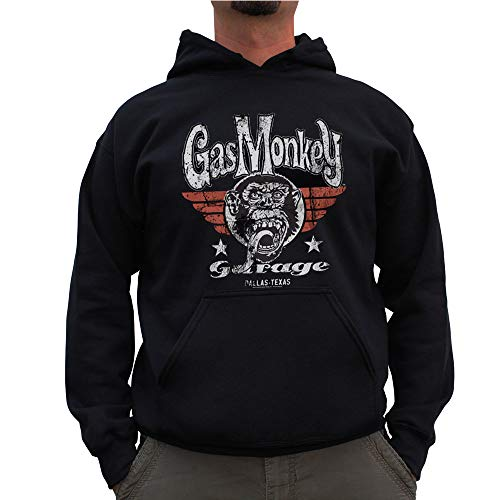 Gas Monkey Garage Officially Licensed Flying High Big & Tall Hoodie (Black) 3X-Large