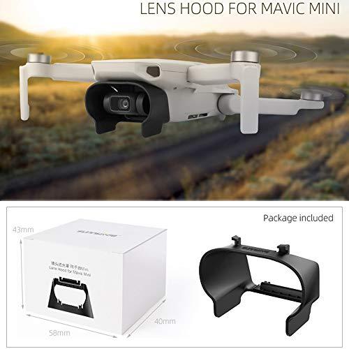 Hunpta @ Objektiv Hood Sonnenschutzzubehör für DJI Mavic Mini, Kunststoff Schutzkappe Blendfreies Gehäusedeckel Drohne Erweiterungs Schutz Zubehör
