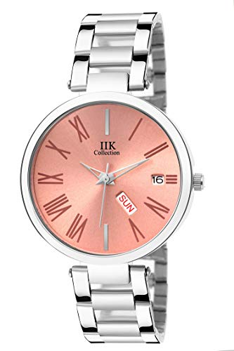 IIK COLLECTION Analogue Women's Watch (Pink Dial Silver Colored Strap)