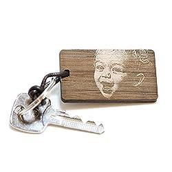 FORYOU24 Schlüsselanhänger graviert aus Holz mit Foto-Gravur Geschenkidee Ihr Lieblings-Foto auf Holz graviert