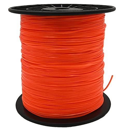 KAKO Commercial Grade Square .080 Inch Nylon String Lawn Trimmer Line for String Trimmer Weed Trimmer 3-Pound,1200-ft Length String Trimmer Line (Orange)