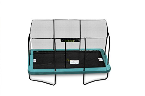 Cama elástica rectangular JumpKing de 2,4 m x 3,6 m.