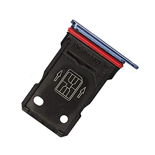 Dual SIM Card Tray Holder Replacement Part for OnePlus 7T HD1901 6.55 inch Blue