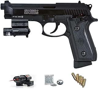 Swiss Arms láser - Pack Pistola de Aire comprimido (CO2) y balines de Acero (perdigones BBS) Calibre 4.5mm. Réplica Tipo Beretta 92 <3,5J