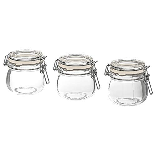 KORKEN Set van drie Jam Potten Rubber gestopt 13cl voedsel opslag potten IKEA