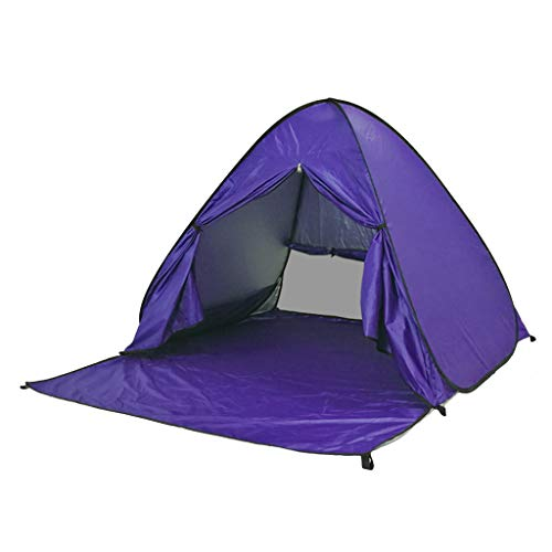 TTlove Pop Up Tent, Beach Camping Tent Foldable Outdoor UV Lightweight Waterproof tent as Sun Shelter Children Family and Dog on Garden, Beach(Purple,150x165 x110cm)