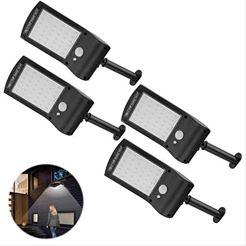 4Pcs-LED Solarlicht PIR Motion Sensor Outdoor Wall Street Light Garden Lampe
