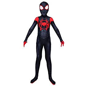 Hoe Spandex Into The Spiderverse Costume Kids 5t Black And Red