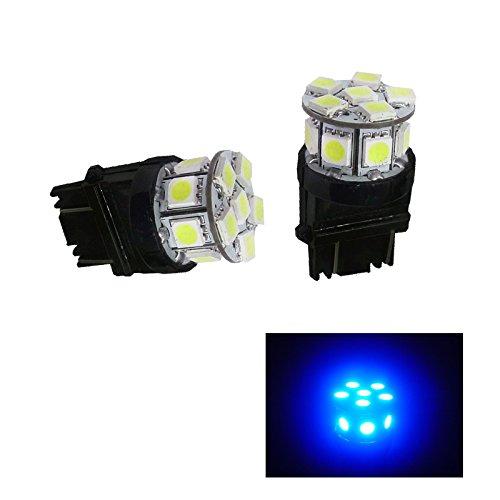 PA 2 x 13 SMD 5050 LED Auto arrière Feu stop 3157 3156 3057 Wedge Bleu