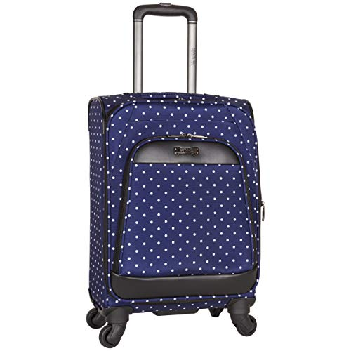 Kenneth Cole Reaction Dot Matrix 20' Lightweight Expandable 4-Wheel Spinner Carry-On Luggage, Navy