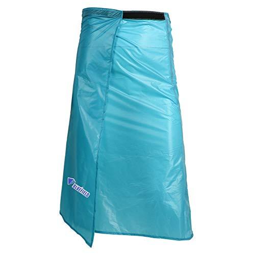 Leezo Leichte 15D Silikonbeschichtung Regenbekleidung Regenbekleidung Langer Regen Kilt Wasserdichter Rock Hosen Hosen Für Outdoor Wandern Camping, Nylonbeschichtetes Regenrock