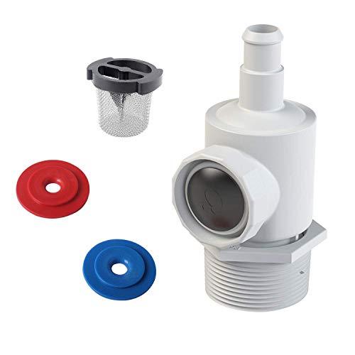Poweka 9-100-9001 Conjunto de Conector de Pared Universal Compatible con Polaris 180 280 380 Robot Limpiafondos Piscina Automático con 6-504-00 Filtro de Pared