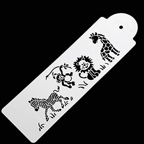 Nette Giraffe Zebra AFFE Löwe Kuchenform Form Kuchen Schablone Airbrush Malerei Form Kekse Fondant Kuchen Mousse Dekorieren Form