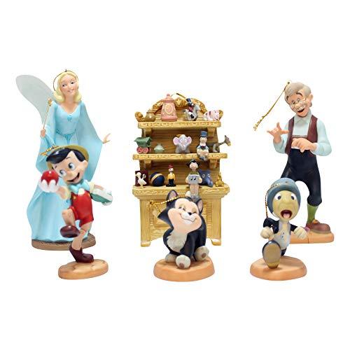Disney WDCC 1209687 Lot de décorations de Noël Pinocchio Édition limitée