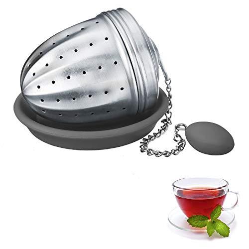 Westmark Tee-Ei mit Silikon-Untersetzer, Teatime, Rostfreier Edelstahl 18/8 und Silikon, ø 4,5 cm, 15832260