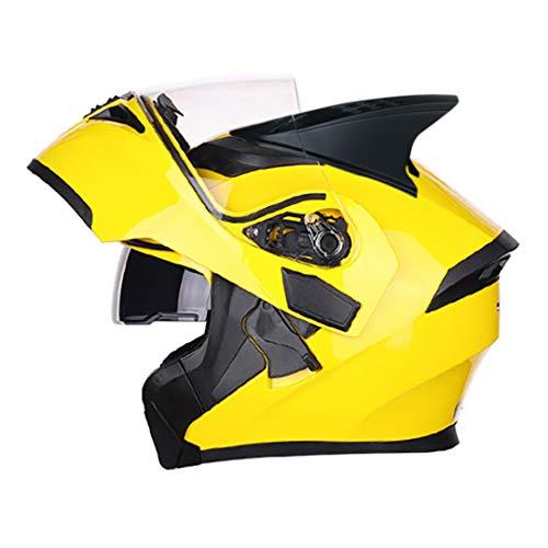 Casco para Motocicleta Casco Modular de Motos Carreras abatibles con Visera Interior Doble Lente Style 8 XXL