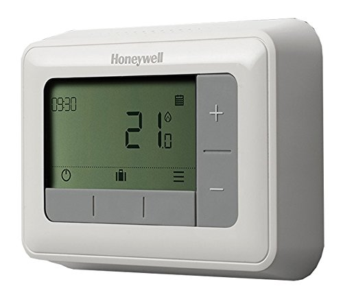 Honeywell T4H110A1021 T4 - Termostato programable (7 días), Color Blanco