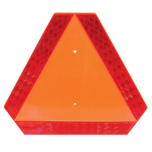 Deflecto Slow Moving Vehicle Safety Sign with Reflector, 0.25' Length x 16' Width x 14' Height (70-0110-10)
