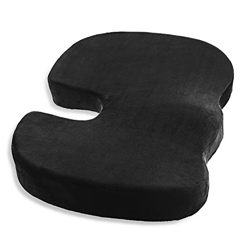 MOEBULB Memory Foam Seat Cushion Medical Seat Pillow Pad NonSlip Orthopedic for Driver Car Truck seat/Office Chair/Plane/Wheelchair/Kitchen to Relieves Back Pain SciaticaTailbone Hemorrhoid