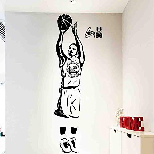 Adesivo da parete con animali viventi da camera da letto, NBA Stephen Curry 3 punti Riprese Wall Sticker Home Decoration Accessori Per la camera dei bambini Soggiorno Home Decor Art Mural58 * 167cm