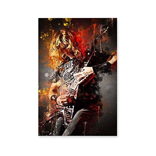 Póster de Dave Mustaine Megadeth en lienzo y arte de pared, impresión...