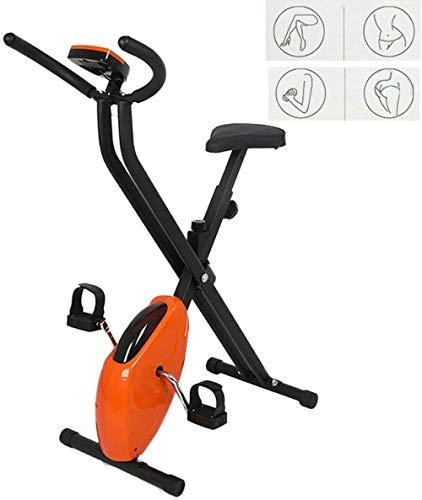 Folding Fahrrad Heimtrainer, Crosstrainer Fitness Bike Machines Indoor Trainingsgeräte Lesen Peed, Entfernung, Zeit, Kalorien
