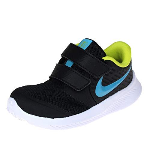Nike Star Runner 2 (TDV), Zapatillas Deportivas Unisex niños, Black Chlorine Blue High Voltage White, 18.5 EU