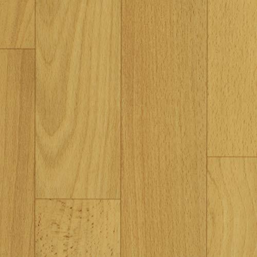 TAPETENSPEZI PVC Bodenbelag Schiffsboden Buche | Vinylboden in 3m Breite & 3m Länge | Fußbodenheizung geeignet | Vinyl Planken strapazierfähig & pflegeleicht | Fußbodenbelag für Gewerbe