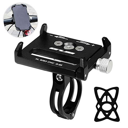 MOVIGOR Bike Phone Holder Universal Cycle Phone Mount Anti-fall Aluminum Alloy Bicycle Handlebar & Stem Phone Stand for Motor/E-bike iPhone Samsung Huawei, Width 50-100mm Adjustable