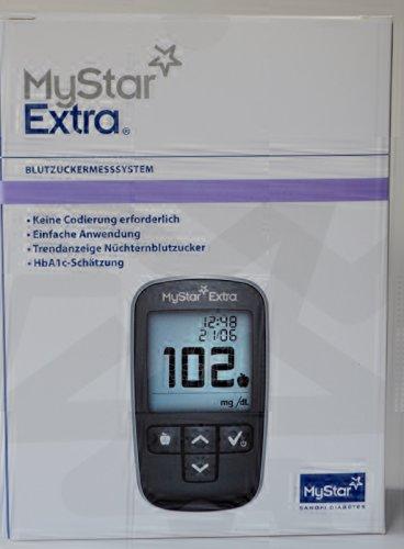 Mystar Extra Blutzuckermessgerät Set mg/dl, 1 St