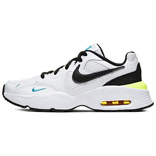 Nike Air MAX Fusion GS Running Trainers CJ3824 Sneakers Zapatos (UK 5 US 5.5Y EU 38, White Black Oracle Aqua 103)