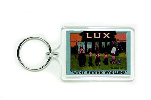 Lux zeep onze wasdag zal niet krimpen wollens acryl sleutelring sleutelhanger