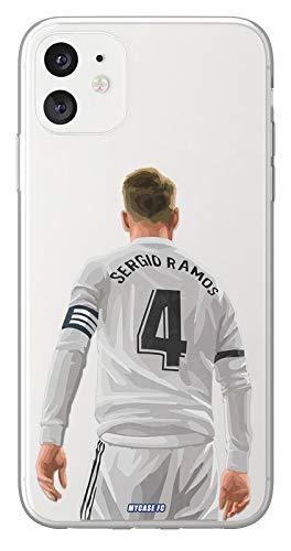 MYCASEFC - Cover Calcio Personalizzabile Sergio Ramos, Huawei P9 Lite Mini in Silicone, Custodia da Calcio per Smartphone Personalizzata e Realizzata in Francia in TPU