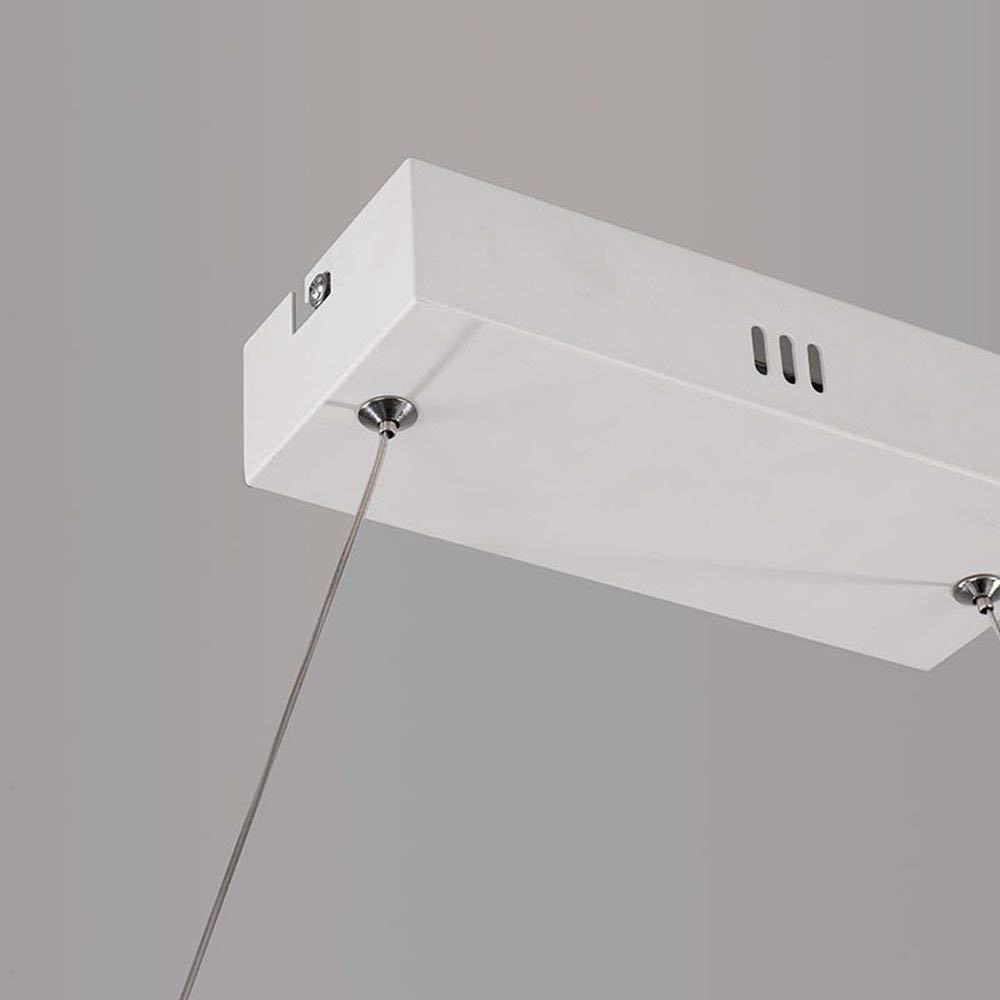 wfwt techo colgante LED regulable Oficina lámpara de techo regulable de PVC – Lámpara de techo para salón, comedor, restaurante, oficina, trabajo habitaciones, 1200 x 200 x 20 mm: Amazon.es: Iluminación