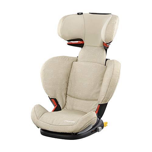 Maxi Cosi RodiFix AirProtect (AP) Kindersitz Gruppe 2/3, ISOFIX-Sitzerhöhung, optimaler Seitenaufprallschutz, 3,5 - 12 Jahre, 15 - 36 kg, (beige) Nomad Sand