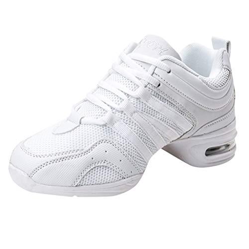 DAIFINEY Damen Sneaker Sportlicher Schnürer Leichte Modische Turnschuhe Sportschuhe Schüler Freizeit Atmungsaktiv Laufschuhe Outdoor Schuhe Slip On Bequeme Sohlen(Z-Weiß/White,35.5)